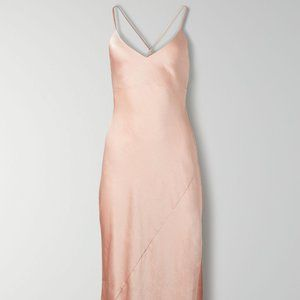 NWT Wilfred Only Maxi Slit Dress, Petal Pink, S